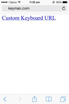 Keyman for iPhone and iPad update 1 2 – Add custom keyboards